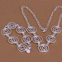 Bracelet & Necklace asian lanterns - S016 Silver Fashion Lantern Shap Bracelet Necklace Jewelry sets XMAS Gift