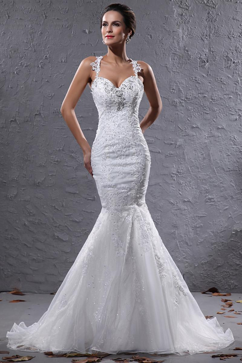 Brand New Mermaid Halter Sheer Bodice Wedding Bridal Gown Brand New ...