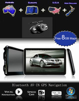 Wholesale HD quot Bluetooth AVIN Car GPS Navigation System Newest GB D Maps Years Warranty Wireless Reverse Camera Free Gifts Drop Shipping