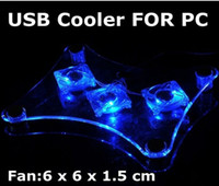 Wholesale 3 Fan USB Light Cooling Pad Cooler pad for Laptop PC Notebook
