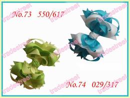 "free shipping 30pcs fashion 3.5"" Funky hair bows boutique girl hair bows ribbon hair clips"