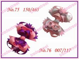 "free shipping 80pcs fashion 3.5"" Funky hair bows boutique girl hair bows ribbon hair clips"