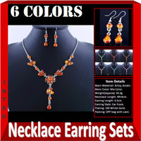 Wholesale Discount Beautiful Necklace And Earring Sets Brown Color W19750F01 In Stock In Stock