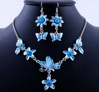 Earrings & Necklace asian wedding cards - Pretty Acrylic Alloy Earring And Alloy Necklace jewelry Sets OPP card packing Blue Color W19710E01