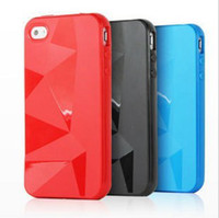 Wholesale 200 For Iphone g gs s S Line S Line Grip Gel Silicone Tpu Case Cover Skin