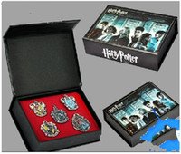potter - New Harry Potter Hogwarts House Metal Pin Badge set with box