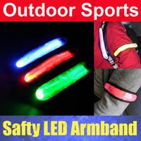Wholesale 200pcs N73 High Visibility Outdoor Sports Safety LED Armband Flashing Arm Band Cycling