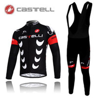 Wholesale winter cycling clothing CASTELLI WINTER Thermal Fleece Long Sleeves Bib Short sets castelli winter thermal fleece cycling jersey