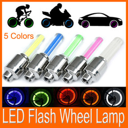 Wholesale Hot Car Motorcycle Bicycle Tire Wheel Valve Cap Led Flash Light colors