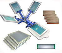 screen printing machine - Fast color station screen printing kit machine printer squeegee frame scoop coater