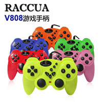 Wholesale Game Controller New arrival raccua v808 double vibration computer game controller usb wired handle