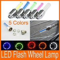 Wholesale Car Motorcycle Bicycle LED Flash Tyre Lights Wheel Valve Stem Lamp colors