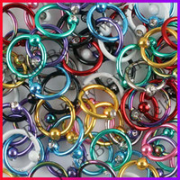 Wholesale 16G Titanium Anodized Captive Bead Ring CBR Nipple Labret Lip Nose Ring Piercing Body Jewelry