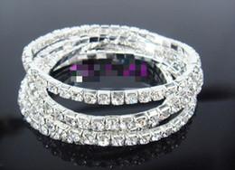 Hot Sale Fashion jewelry 20Pcs 1- Row White Color Crystal Bridal Wedding Swarovski Bracelet Chain