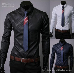 Wholesale new men s shirts business shirts casual slim fit stylish dress shirt men s clothing hj