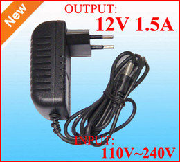 AC adapter 100V ~ 240V to Power supply DC 12V 1.5A Power adapter 12A switching Charger adaptor DHL Free shipping