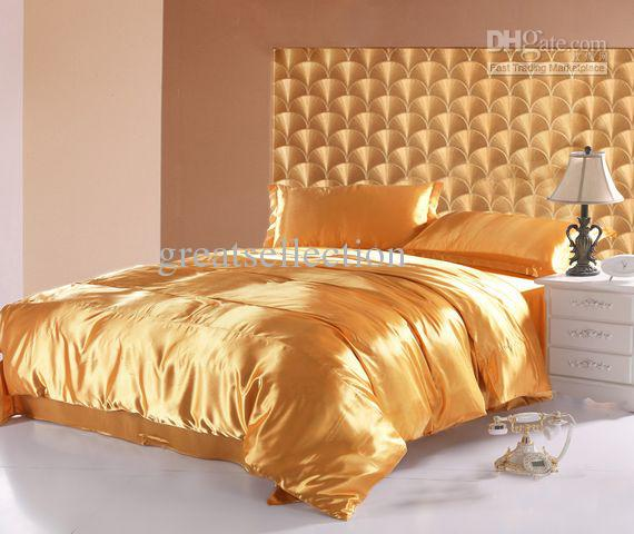 Cheap Luxury Bedding - Best Silk Luxurious Gold Bedding Set Queen ...