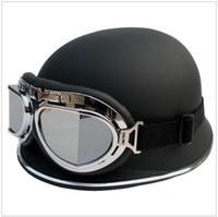 german helmets - AK FO German helmet electric motorcycle helmet Harley helmet half send goggles top sale