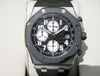 Wholesale NEW ROYAL OAK OFFSHORE RUBBER CLAD BLACK Rubber strap luxury Mens Watch Wristwatch Men s Watches