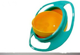 Wholesale 6pcs UFO gyroscope rotating bowl baby bowl toy would not fall in the bowl for kids UFO bowl