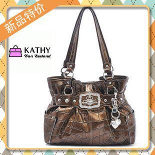 Kathy Van Zeeland Premiere Croco Belt Shopper Cork Handbag Brown Tote Bag Crocodile From Biyd, $47.64 | Dhgate.Com