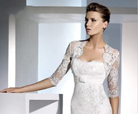 Wholesale Ivory White Lace Wedding Bridal Dress Bolero Shrug Sleeve Length Jacket gt gt
