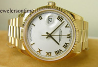 Wholesale Men s Roman Dress Gold Watch Men Mechanical Perpetual Chronometre Dive President Watches