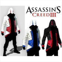 Wholesale Hot Assassin s Creed Connor Kenway Hoodie Jacket Anime Cos Costume ANY SIZE