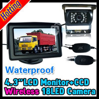 "Car Parking Sensor   2013 Hot in saleing!! WIRELESS CAR REVERSING REAR VIEW CCD CAMERA PARKING KIT + 4.3"" LCD TFT MONITOR"