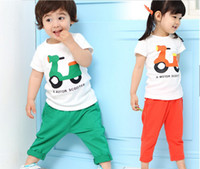 boys and girls baby scooters - children outfits baby sets kids scooter motorcycle suit children cotta sport suit boys girl wear