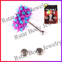 Unisex Stainless Steel Chirstmas Vibrating tongue ring Silicon Body Jewelry Tongue rings body piercing jewelry vie bell koosh