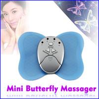 Wholesale 2pcs Mini Losing Weight Slimming Butterfly Massager Cheap Body Arm Leg Muscle Massage Dropshippi
