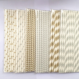 Wholesale gold silver in set drinking straws bar and kitche paper straws Holiday articles party supplies new items