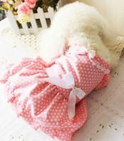 симпатичный XS-XL Котта розовый точка назад Bowknot springsummer Симпатичные собаки животное плюшевых принцесса юбка одежды