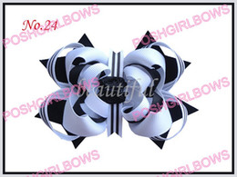 "free shipping 30pcs 4.5"" Inch Nobby Hair Bows Clip fashion girl baby hair bows clip"