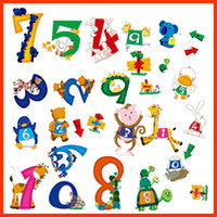 Wholesale The third generation wall stickers series children real digital stickers decoration stickers QZ04