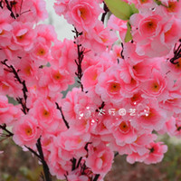 Wholesale Artificial flower silk Peach Blossom peach tree home garden wedding shop Decoration