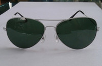 Wholesale Fashionable Mens Womens Designer Sunglasses Sun Glasses mm Lens White frame green Lens pair
