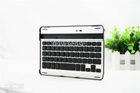 Wholesale Aluminum Bluetooth keyboard Mobile wireless keyboard with stand for iPad Mini free DHL