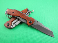 Wholesale New GERBER Scout Folding Blade Survival Pocket Knife Cr13Mov blade HRC wood handle