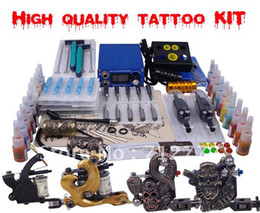 Wholesale Complete Tattoo Kit Machine Equipment Set Starter Guns Supply US Plug China EMS DHL transportation