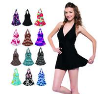 Cheap Women Bathing suit Best Swimdress Pure Colour swimwear skirt