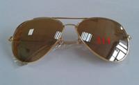 Wholesale Designer Unisex Metal sunglass Gold frame brown Lens Glass Sunglasses Glasses mm lens pair