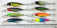 Wholesale 90mm host sale Plastic Hard Bait Minnow Fishing Lures CM G hooks baits Crank lures fresh wate