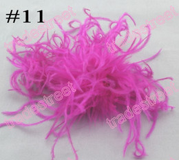 free shipping 100pcs fashion 5-6'' curl ostrich feather puffs feather hair clips ostrich puff clips