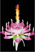 Wholesale Wedding Birthday gift party Flower Music Candle Lotus Music Candles Lotus Petal