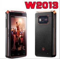 Wholesale HKpost W2013 Flip Smart phone Qualcomm quad core GHZ dual screen quot SIM G RAM G ROM MP AF