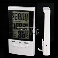 Wholesale Multi function Digital Thermometer and Hygrometer Large LCD Digital Clock Via EMS
