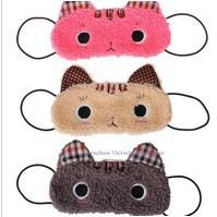 Wholesale Sleep Mask Sleep Mask Sleeping Eyeshade Blinkers Sleep Blindfold Eyepatch Cover Cartoon Color Cats