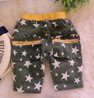 Wholesale so cool stars zipper pocket boys half pants trousers jeans children kids casual pants